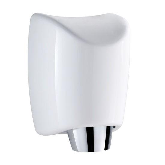 """Whitehaus Hand Dryer Series Hands-Free Wall Mount Hand Dryer in White, 8-1/4"""" W x 8"""" D x 12"""" H"""