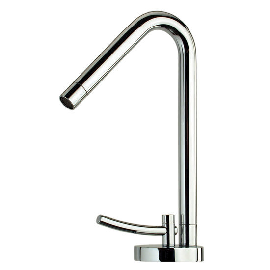 Whitehaus Metrohaus Single Hole Faucet with 45� Swivel Spout, Polished Chrome