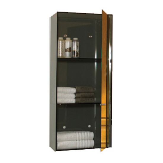 Wall Mount Glass Storage Unit