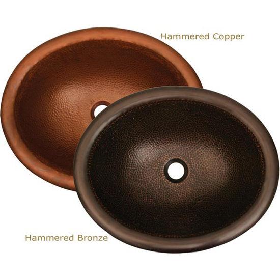 "Whitehaus Copperhaus Collection Oval Prep Sink, 18-3/8""W x 15""D x 6""H"