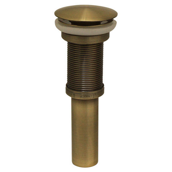 Pop-Up Mushroom Drain, Antique Brass