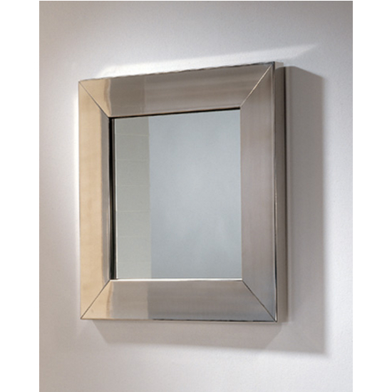Whitehaus New Generation Square Mirror W Stainless Steel Frame