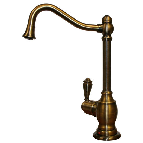 Whitehaus - Forever Hot Kitchen Faucet, Antique Brass