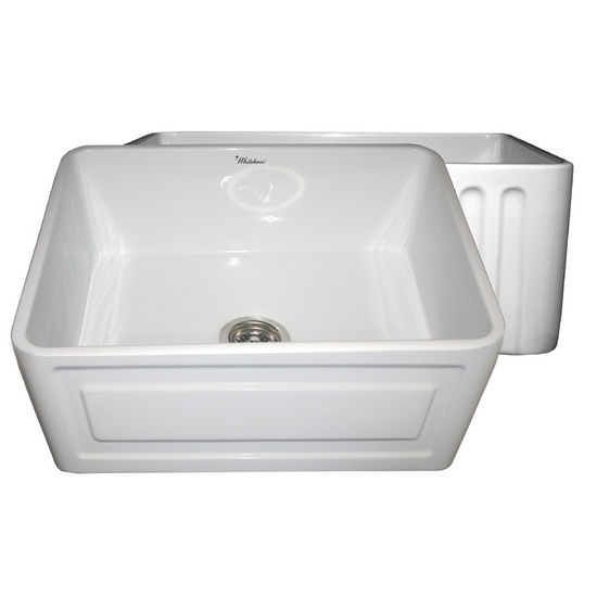 Whitehaus Reversible Series Fireclay Sink With Raised