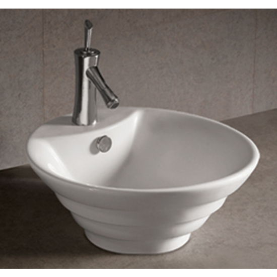 Isabella Round Stepped Above-Mount Bath Sink