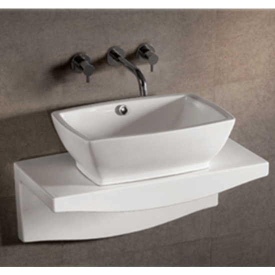Bathroom sinks wh whkn1065 1116 w china isabella for Wall mounted bathroom countertop