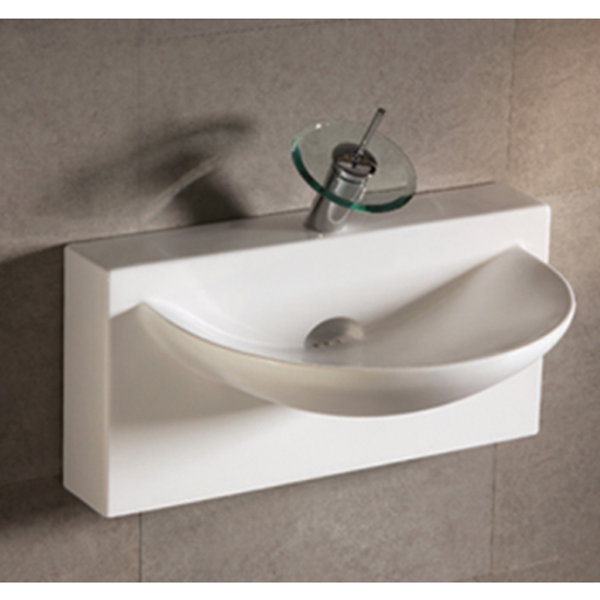 Isabella U-Shaped Bowl Bath Sink with Wall-Mount Basin email a friend add to my favorites print page