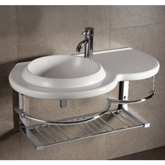 Isabella Round Bowl Bath Sink with Wall-Mount Basin