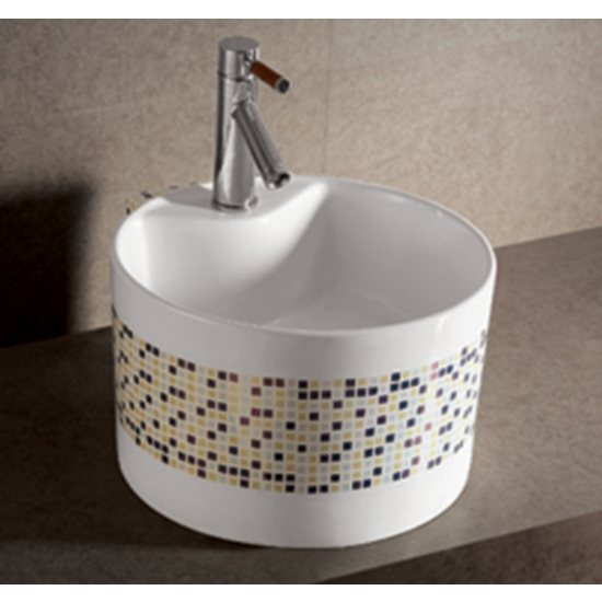 Isabella Decorative Round Above-Mount Bath Sink