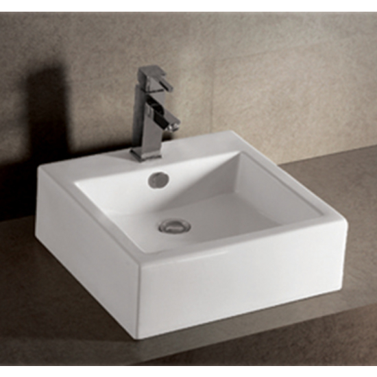Isabella Square Above-Mount Bath Sink