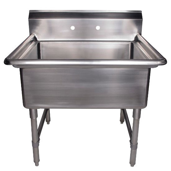 Commercial Utility Sink : ... commercial freestanding laundry/utility sink KitchenSource.com