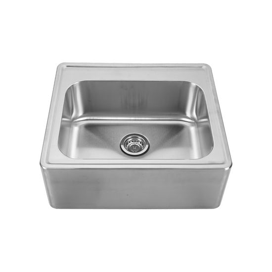 "Noah Collection - Single Bowl Drop-In Sink, 25"" W x 22"" D x 8-5/8"" H, No Hole"