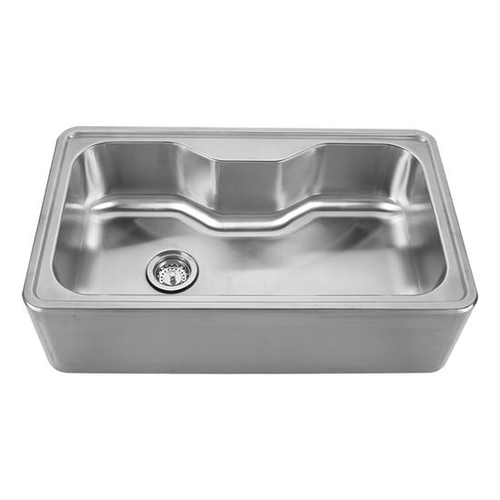 "Noah Collection - Single Bowl Drop-In Sink, 33-1/2"" W x 19-3/4"" D x 9"" H, No Hole"