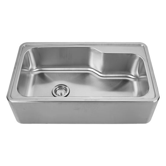 "Noah Collection - Single Bowl Drop-In Sink, Rectangular, 33-1/2"" W x 19-3/4"" D x 9"" H, No Hole"
