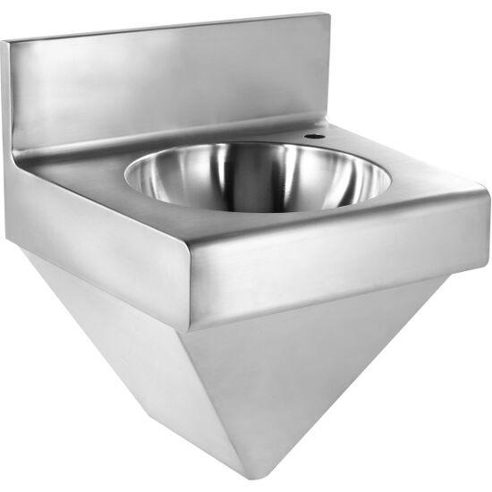 wall mounted utility sink with backsplash