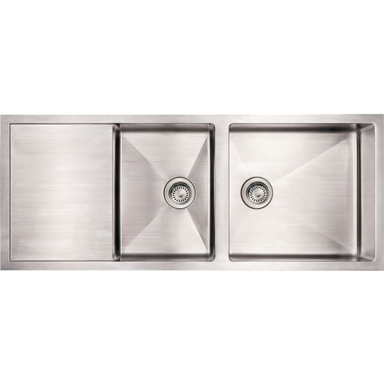 Undermount Kitchen Sink With Drainboard : ... Collection - Commercial Sink with Drainboard, Brushed Stainless Steel