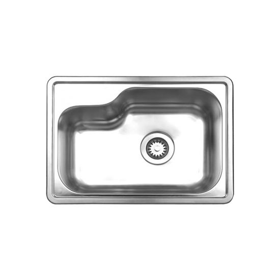 """Noah Collection - Single Bowl Undermount or Drop-In Sink, 22-1/2"""" W x 15-7/8"""" D, No Hole"""