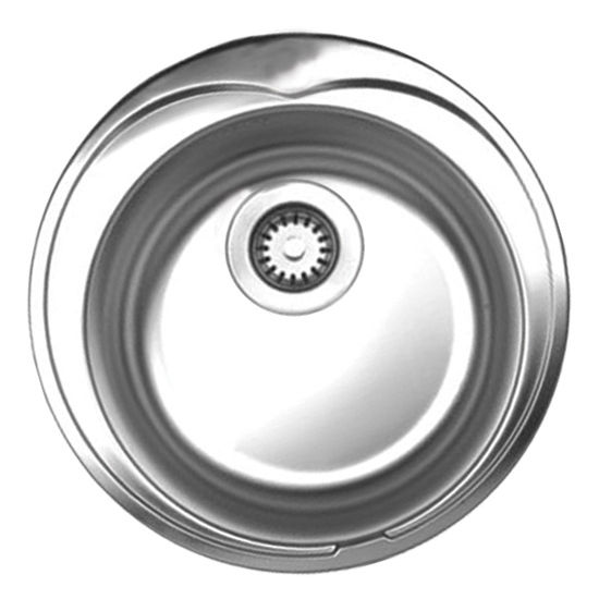 """Noah Collection - Large Round Drop-In Sink, 20"""", No Hole"""