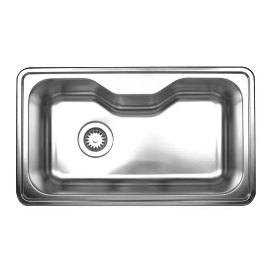 "Noah Collection - Single Bowl Drop-In Sink, 33-1/2"" W x 19-3/4"" D, No Hole"