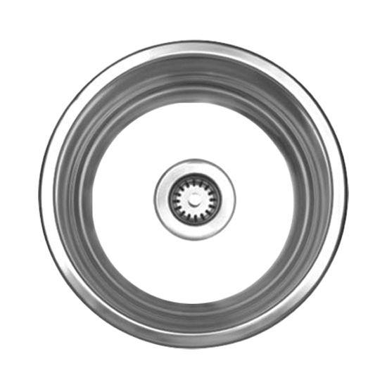 Kitchen-Sinks - Large Round Drop-In Sink - 20 Gauge, 304 Series ...