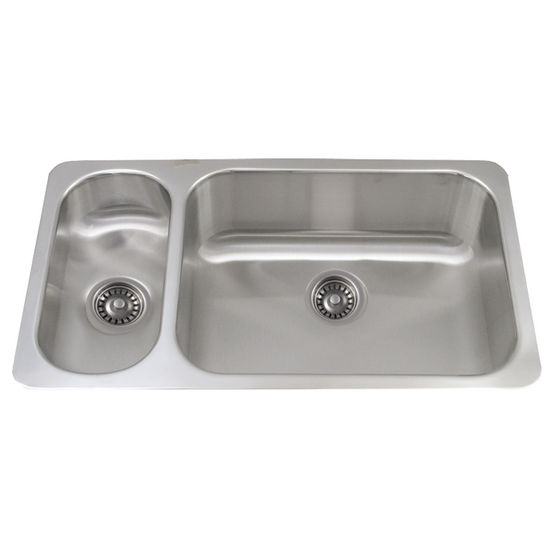 Collection Undermount Kitchen Sink, Double Bowl Disposal Sink, Small ...