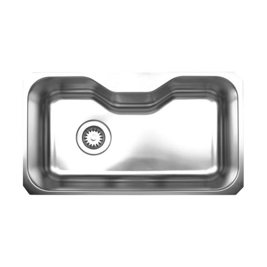 "Noah Collection - Single Bowl Undermount Sink, 32-1/8"" W x 18-3/8"" D, No Hole"