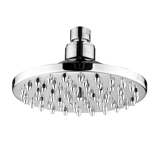 "Whitehaus 6"" Round Rainfall Shower Head in Polished Chrome"
