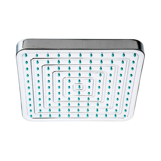 Whitehaus Square Rainfall Shower head with Rubber Tips in Polished Chrome