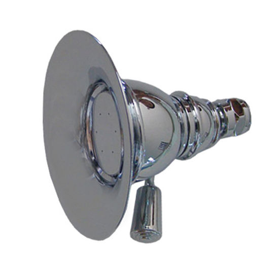 "Whitehaus 4-3/8"" Round Rainfall Shower Head in Polished Chrome"