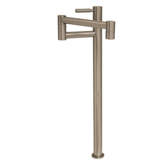 Whitehaus Deck Mount Pot Filler in Brushed Nickel