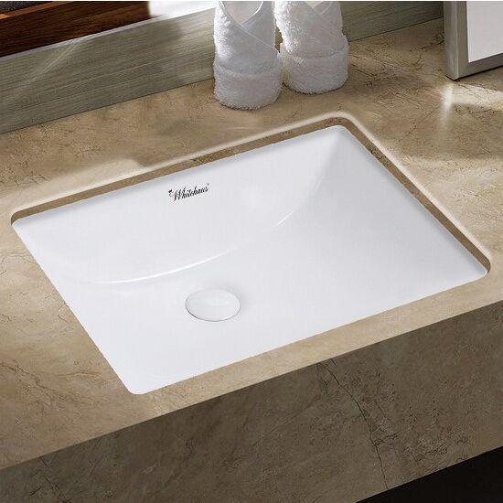 Wide Basin Bathroom Sink: Isabella Plus Collection 20-3/4'' Wide Rectangular