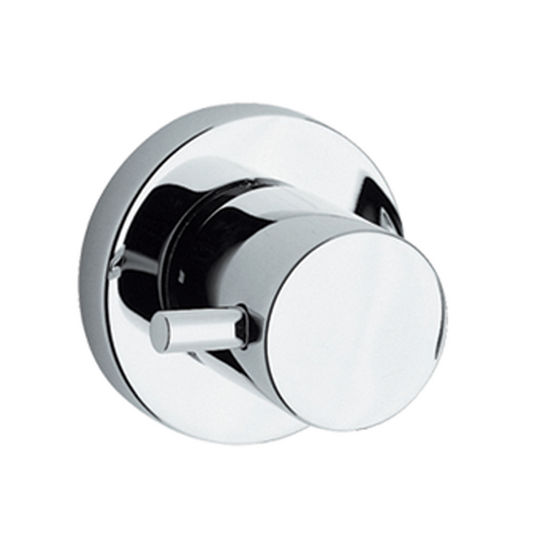 Whtehaus Luxe Round Volume Control with Lever Handle in Polished Chrome