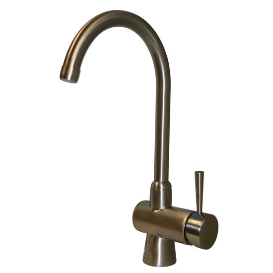 Whitehaus Evolution Single Lever Faucet w/ Brushed Nickel Finish