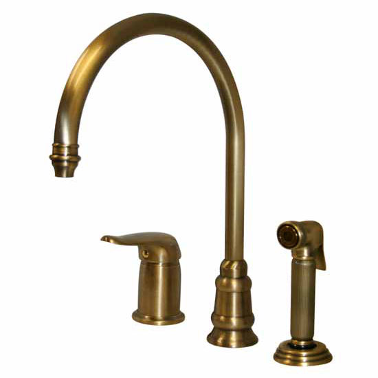 Whitehaus Evolution 3 Hole Faucet w/ Side Spray