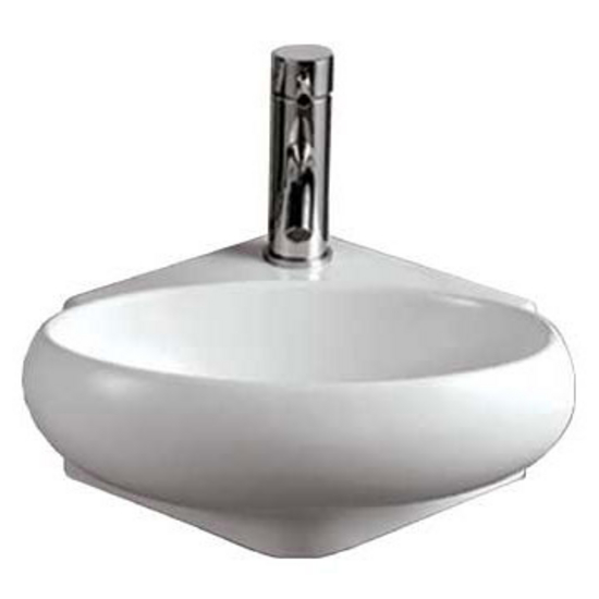 Whitehaus Isabella Oval Wall Mount Basin with Center Drain