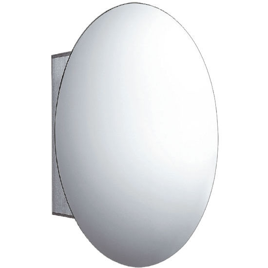 Whitehaus Oval Double Faced Mirrored Door Medicine Cabinet