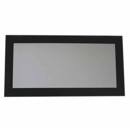 Whitehaus Aeri Rectangular Shaped Mirror, Laminated Black Glass Frame, 39-1/4''D x 19-3/4''H