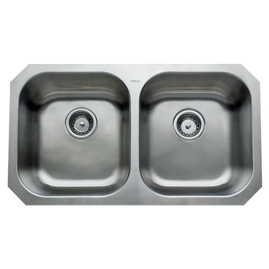 Great Lakes Series Stainless Steel Double Bowl Undermount Sink