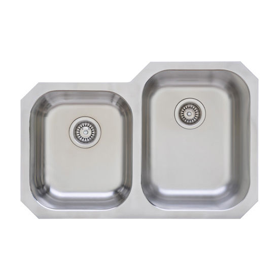 Wells Sinkware Great Lakes Series Stainless Steel Double Bowl Undermount Sink