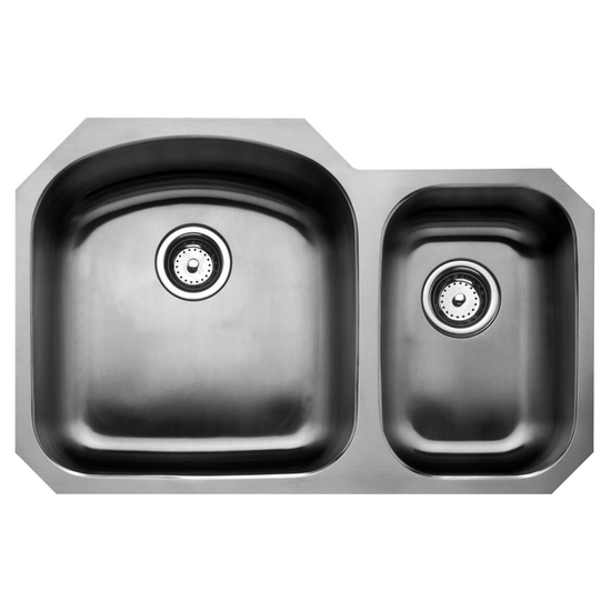 Wells Sinkware Chicago Series Stainless Steel Double Bowl Undermount Sink
