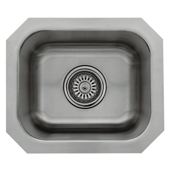 Great Lakes Stainless Steel Single Bowl Undermount Bar Sink