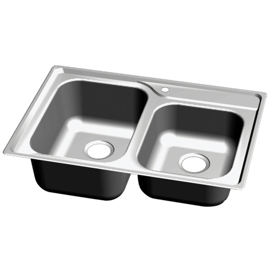 Great Lakes Stainless Steel Double Bowl Topmount Sink