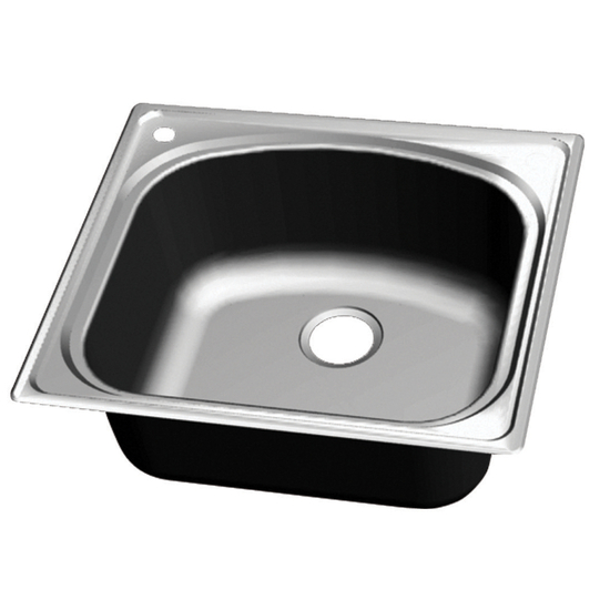 Wells Sinkware Chicago Series Single Bowl Topmount 18 Gauge Stainless Steel Sink