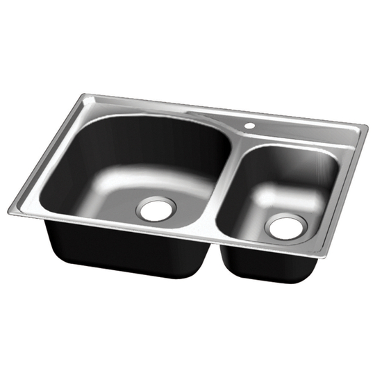 Chicago Stainless Steel Double Bowl Topmount Sink
