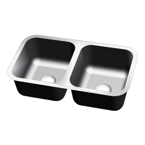 Craftsmen Series Stainless Steel Double Bowl Undermount Sink