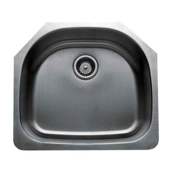 Craftsmen Series Stainless Steel Single Bowl Undermount Sink, 18 and 16 Gauge