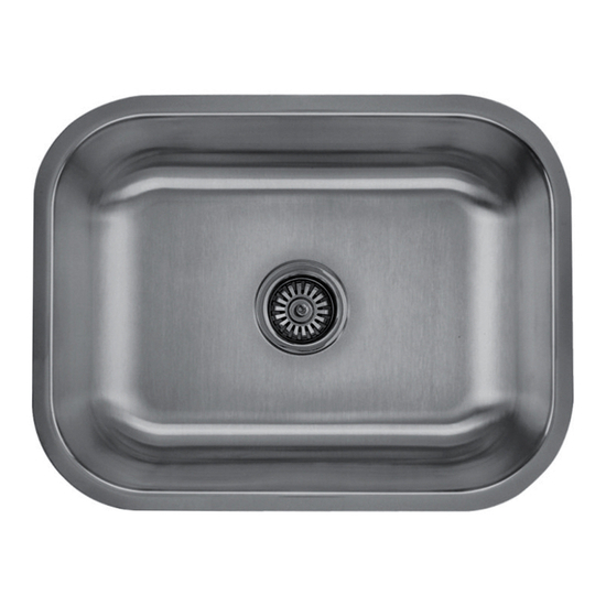 Craftsmen Series Stainless Steel Single Bowl Undermount Sink, 18 and 16 Gauge