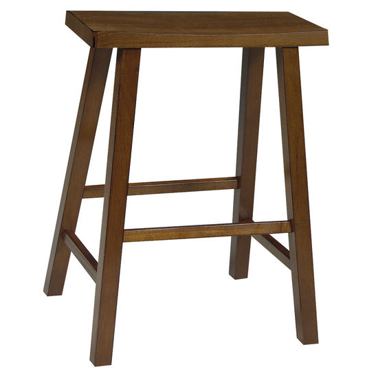 "International Concepts 24"" or 29"" Saddle Seat Bar Stool in Rustic Oak Finish"