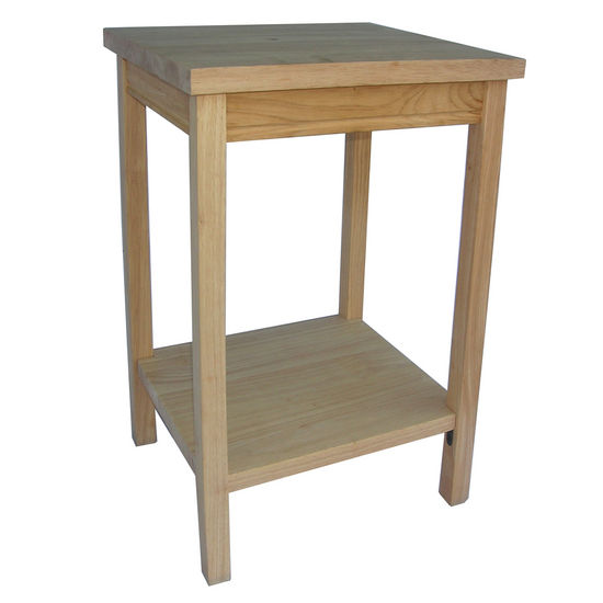 International Concepts Unfinished Accent Table