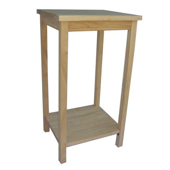 International Concepts Unfinished Tall Accent Table